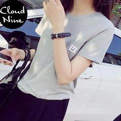 Cloud Nine - Short Sleeves Embroidered T-shirt