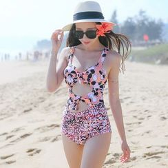 Beach Date - Cutout Print Swimsuit