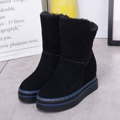 SouthBay Shoes - Hidden Wedge Short Boots
