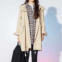 Heynew - Hooded Long Jacket