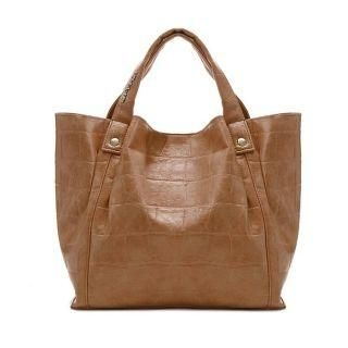 MBaoBao - Faux-Leather Patterned Tote Bag