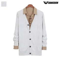 DANGOON - V-Neck Button-Down Textured Cardigan