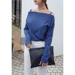 BBORAM - Cotton Off-Shoulder Top