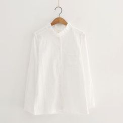 Piko - Frill Collar Long-Sleeve Blouse