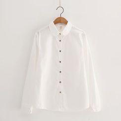 PP家 - 純色長袖襯衫