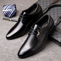Kayne H - Faux Leather Oxfords