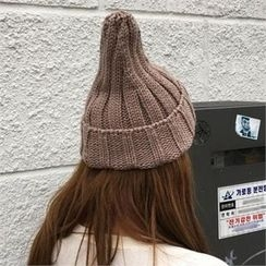 QNIGIRLS - Ribbed Knit Beanie