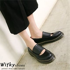 Wifky - Cutout-Front Stitched Loafers