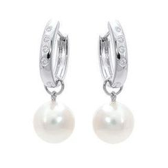 Keleo - 18K White Gold Diamond Earrings