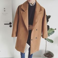 Arthur Look - Double-breasted Knit Coat