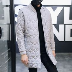 Danjieshi - Quilted Longline Bomber Jacket