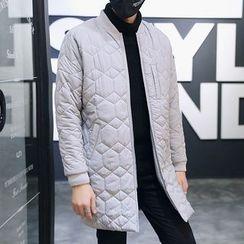 丹杰仕 - 菱格长线立领外套