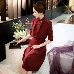 Dabuwawa - Long-Sleeve Belted Dress