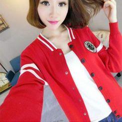 Coralie - Knit Baseball Jacket