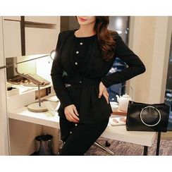 Marlangrouge - One-Button Jacket with Belt