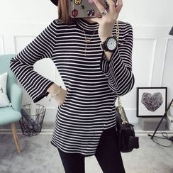 Qimi - Striped Long-Sleeve Sweater