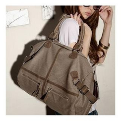 Bags Republic - Zip Canvas Shoulder Bag
