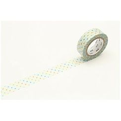 mt - mt Masking Tape : mt 1P Broken Line Dot Green