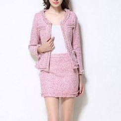 Wisteria - 套裝: 珠珠夾克 + 短裙