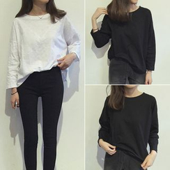 YOSH - Plain Long-Sleeve T-shirt