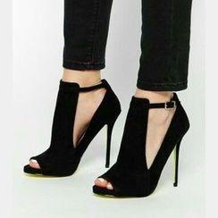 Anran - High Heel Peep Toe Pumps