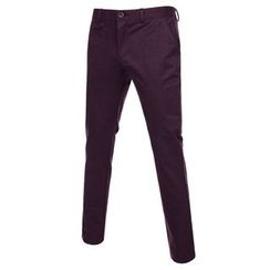 TheLees - Colored Flat-Front Pants