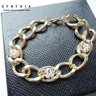CYNTHIA - Rhinestone Chain Bracelet