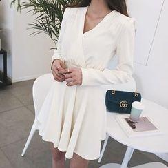 DABAGIRL - V-Neck Mini Flare Dress