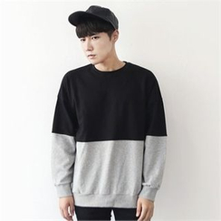 MITOSHOP - Two-Tone Cotton Sweatshirt