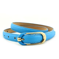 Coco Rush - Faux Leather Slim Belt