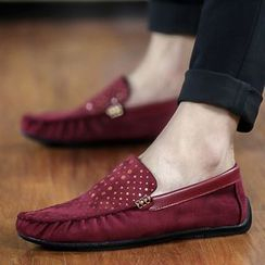 Easy Steps - Faux-Leather Dotted Loafers
