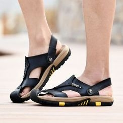 MARTUCCI - Genuine Leather Flat Sandals