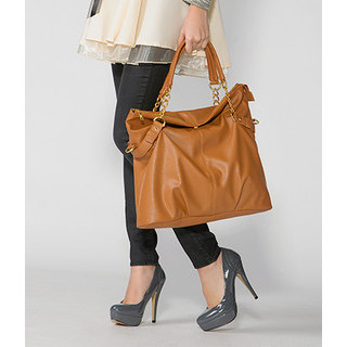 59 Seconds - Chain Accent Foldover Satchel