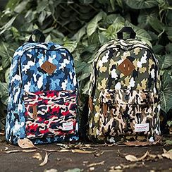 Mr.ace Homme - Printed Canvas Backpack