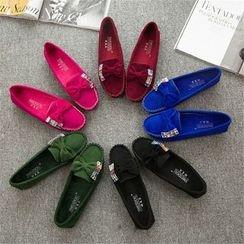 YIVIS - 蝴蝶结水钻平跟鞋
