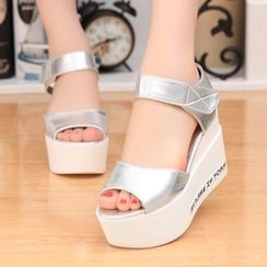 YIVIS - Platform Wedge Sandals