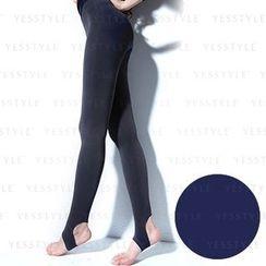 V.VIENNA - 180D Fleece-Lined Stirrup Legging (Blue)
