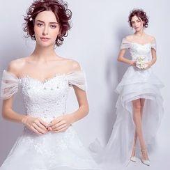 Angel Bridal - Dip-Back Wedding Dress