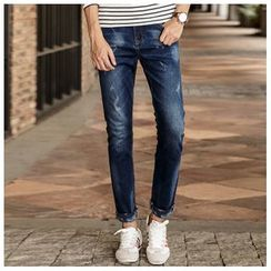 Leewiart - Washed Elastic Jeans
