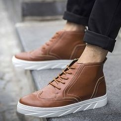 NOVO - Platform Lace-Up Casual Shoes