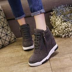 Tina Nini - Hidden Wedge Side Zip High Top Sneakers