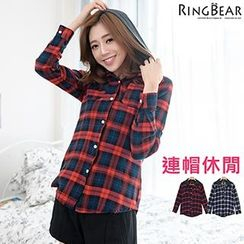 RingBear - Long Sleeve Plaid Shirt