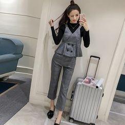 Phyllis - 套装: 格子紧身上衣 + 裤