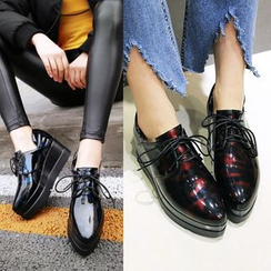 JY Shoes - Lace-Up Platform Shoes