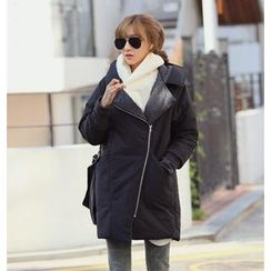 REDOPIN - Hooded Padded Wrap Coat