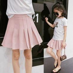 TANGRAM - Kids Plain Pleated Skirt