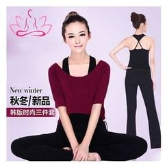 AUM - Yoga Set: Top + Pants + Tank Top