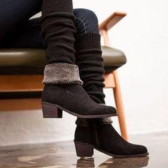 VIVIER - Faux-Suede Cotton Blend Boots