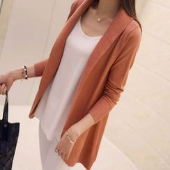 anzoveve - Shawl Collar Long Cardigan