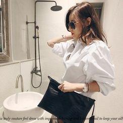 NANING9 - Cotton Puff-Sleeve Shirt